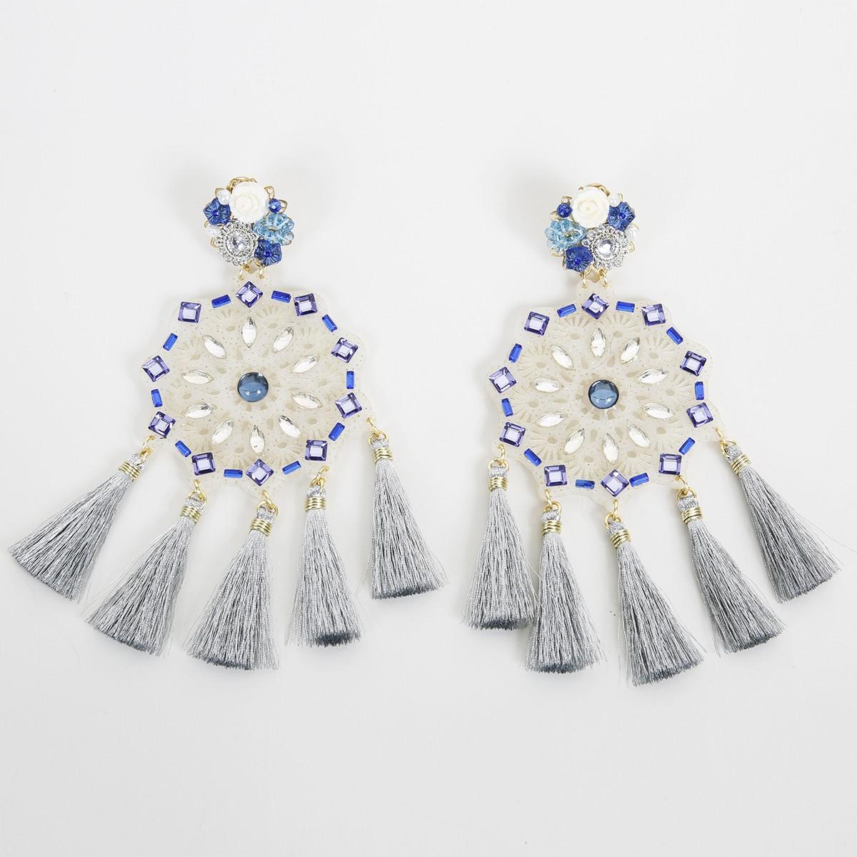 Boutique en ligne cb5bd a7c05 True blue Aretes Fiesta Earrings