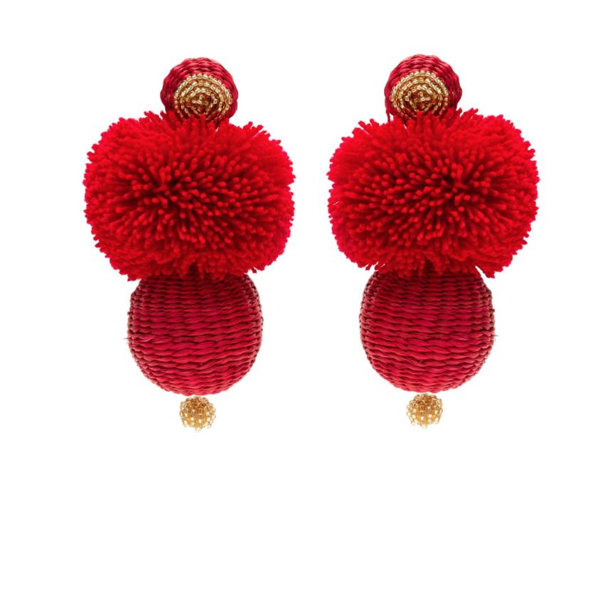 Red Frufru earring