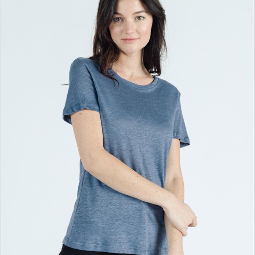 Linen tshirt Blue