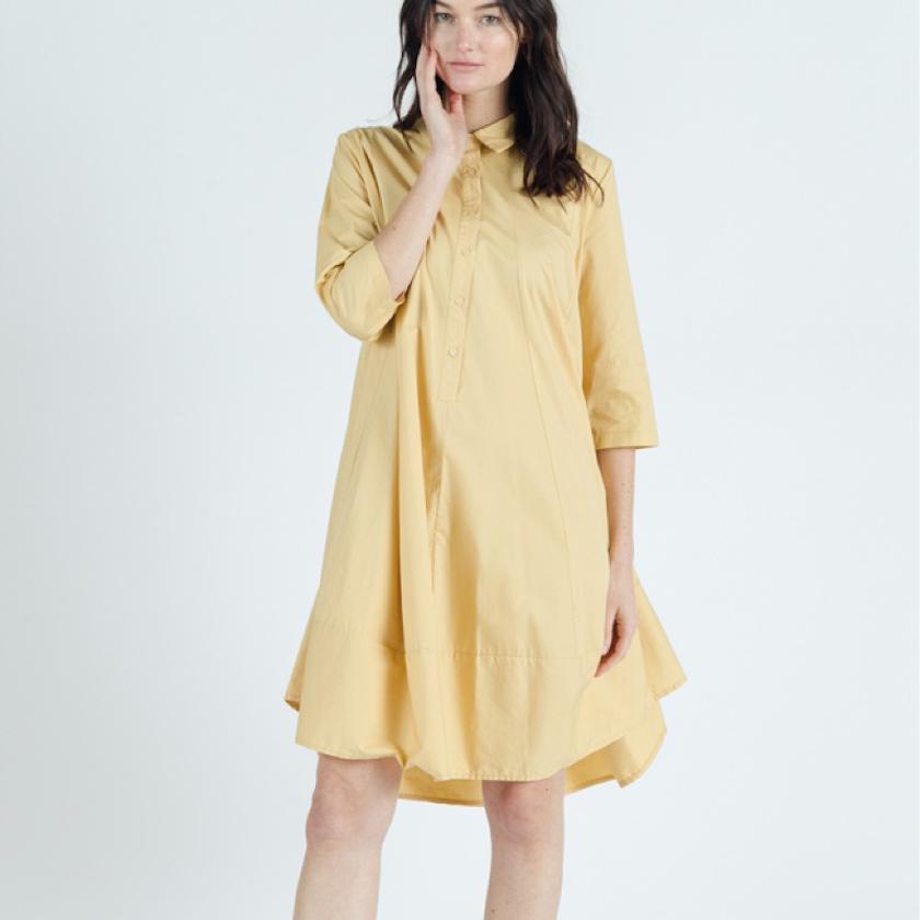 Yellow shirtdress
