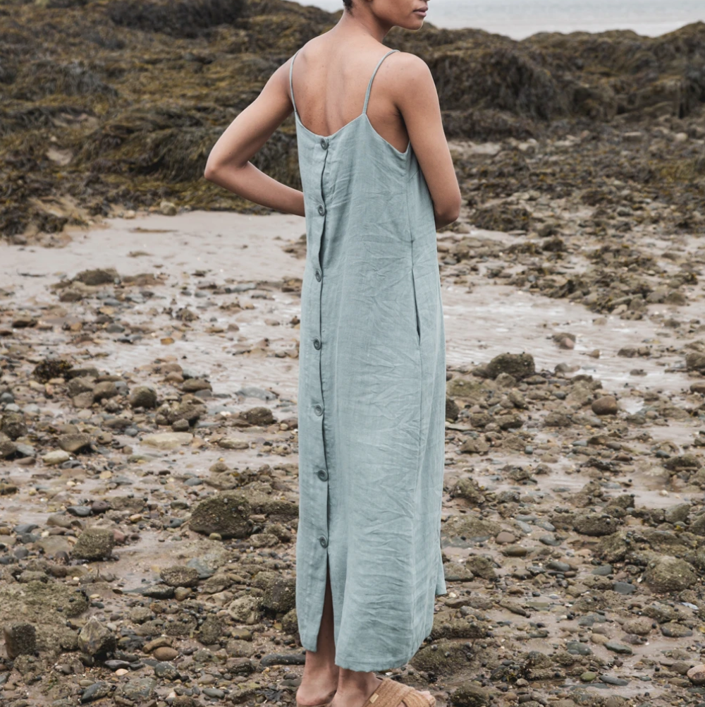Athea Linen Dress Ocean