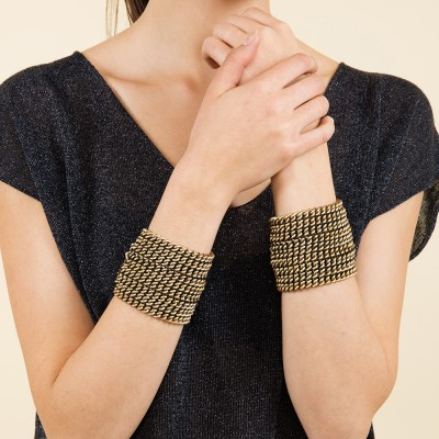Chain cuff bronze