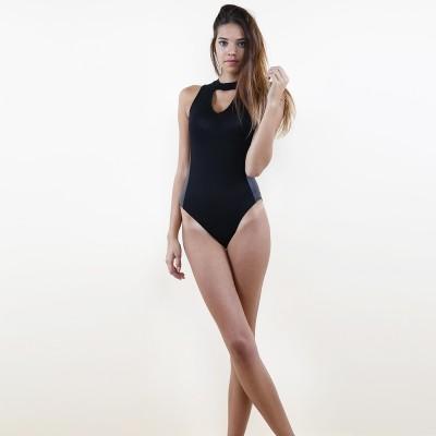Choker bodysuit black