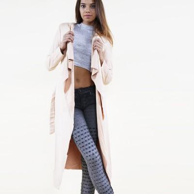 Suedine Coat Pink