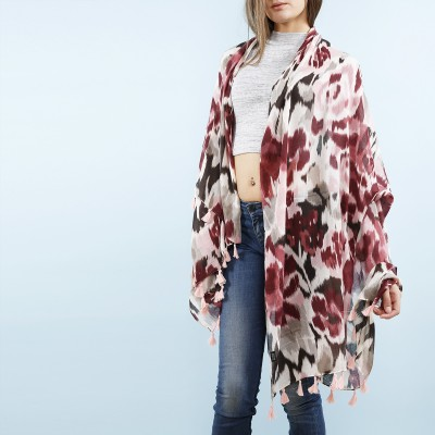Leopard voile scarf