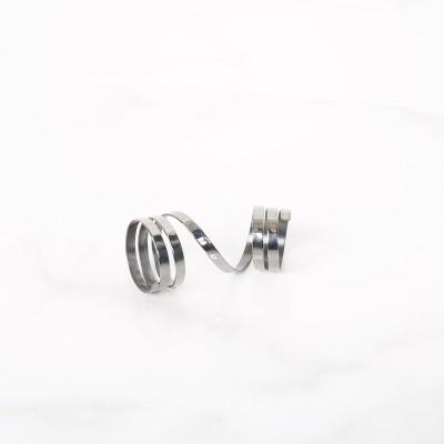 Spiral ring Black