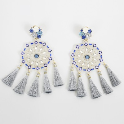 True blue Aretes Fiesta Earrings