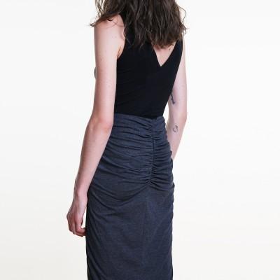 Push up cotton pencil skirt