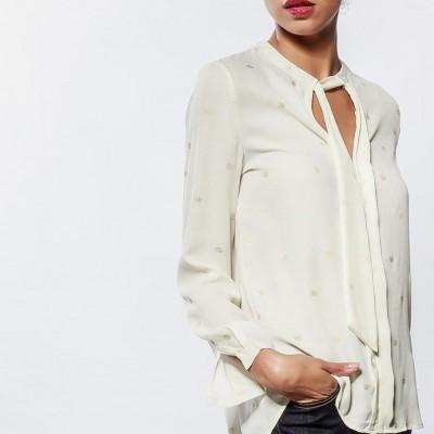 Cashmere print shirt white
