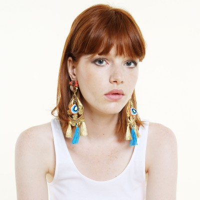 Fiesta Flower Power Turquoise Earrings