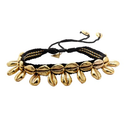 Black and Gold Shell Choker