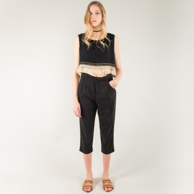 Slack off trousers black