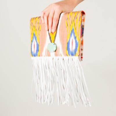 Linda Stone-embellished fringe Clutch