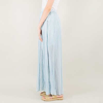 Maxi pleated skirt blue