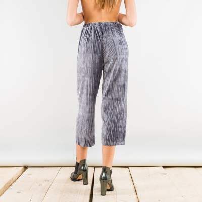 Wide velvet corduroy pants grey