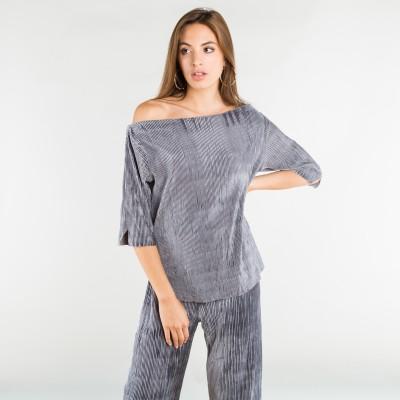 velvet corduroy top grey