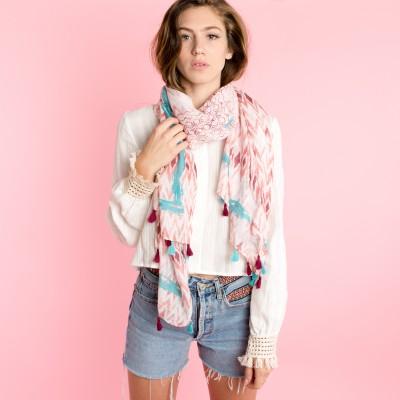 Ikat summer scarf