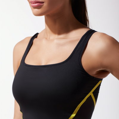 cadence crop top yellow