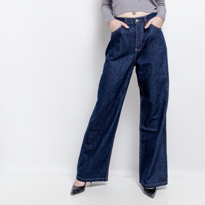Wide high waisted jeans