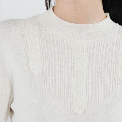 pullover detailed neckline