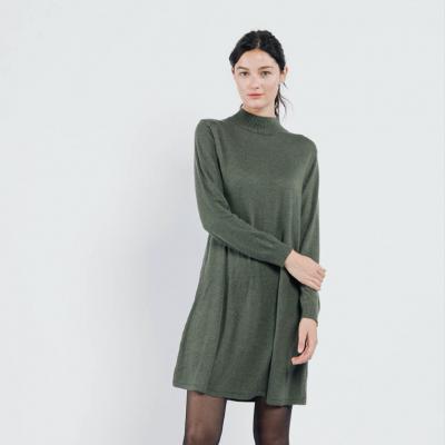 mock neck sweater dress