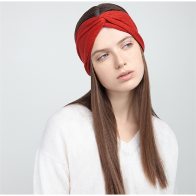 Cachemire headband red