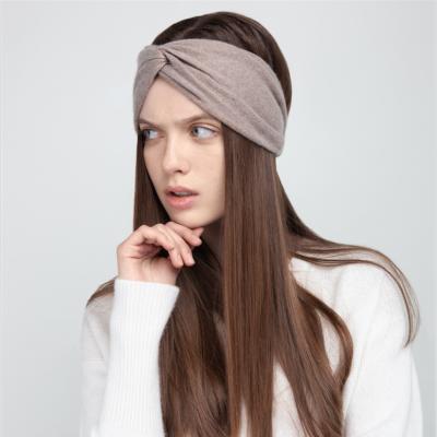 Cachemire headband beige