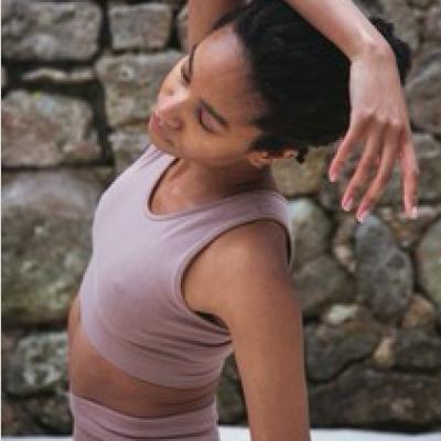 Jo-Jane Organic Cotton Yoga Bra Rosewood