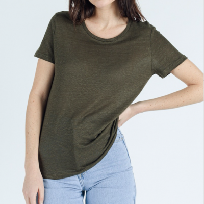 Linen tshirt Carbone
