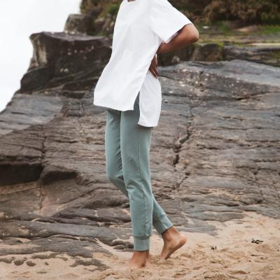 Zadie Organic Cotton Trousers Ocean