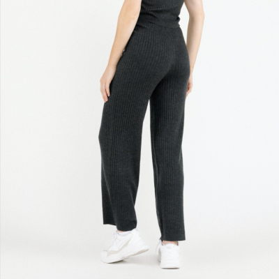 Gray knitted trousers