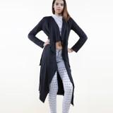 Suedine Coat Black