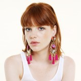 Fiesta Flower Power Pink Earrings