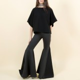 Fold bell pants